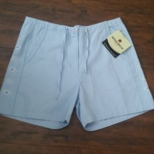 NWT Woolrich shorts blue Kayan sz 12